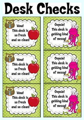 """All Students Can Shine: Desk Checks {A FREEBIE} -use idea for """"table check""""UK-Eduacation Learning Site @ www.smartyoungthi..."""