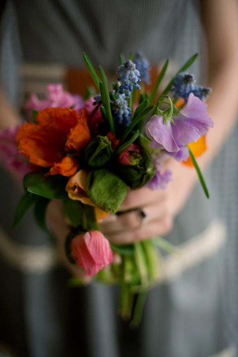 Pretty inspiration for a springtime wedding bouquet.