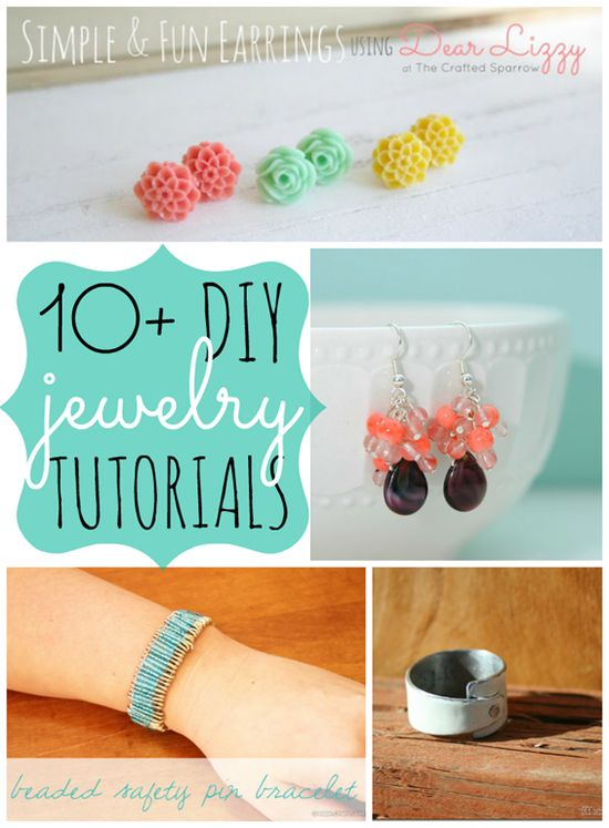 10+  DIY Jewelry Tutorials {link party features}