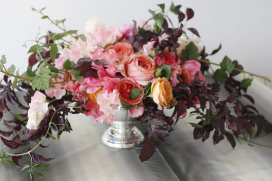 flower arrangement created by Holly Chapple Flowers at the Ariella Chezar workshop