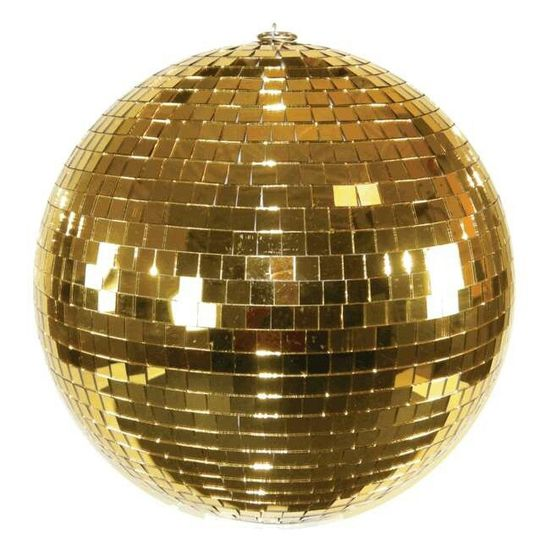 We've seen a chandelier at a tailgate, why not a gold disco ball?