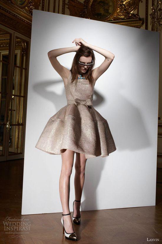 lanvin bridal 2013 short wedding dress color sleeveless