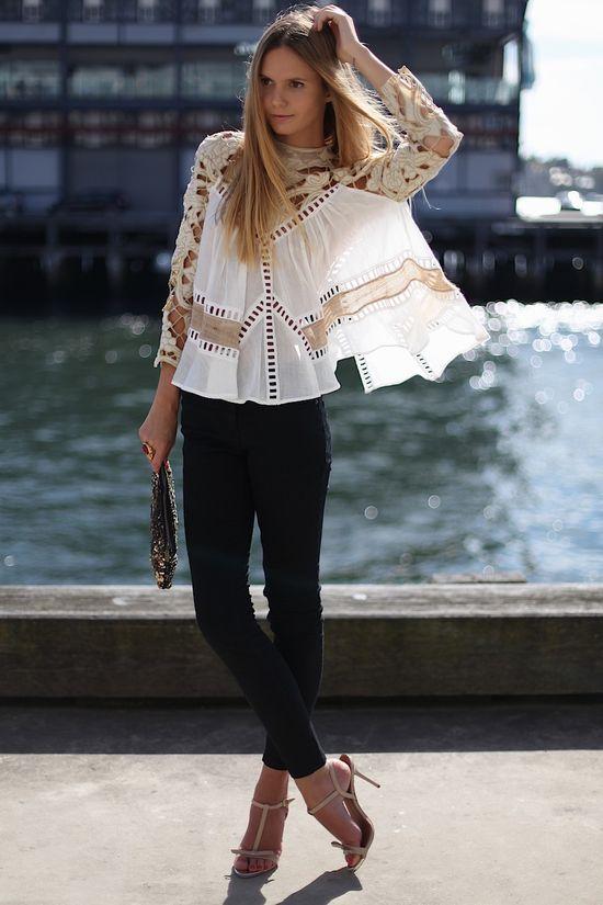 Lace love! Cute top.