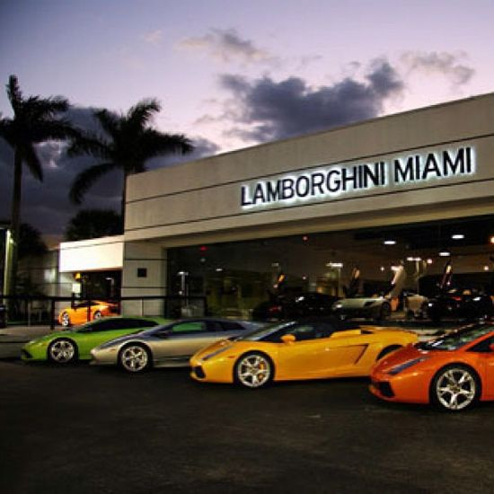 A beautiful place for beautiful cars! #Lamborghini