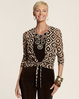 Chico's Travelers Collection Diamond Ginger Jacket #chicos