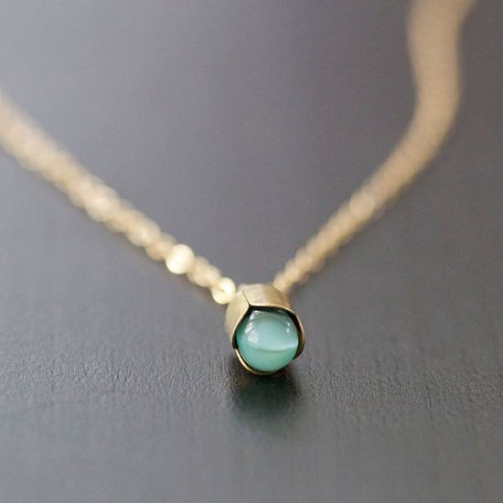 alain in blue  gold and bronze necklace by by elephantine on Etsy, $35.00