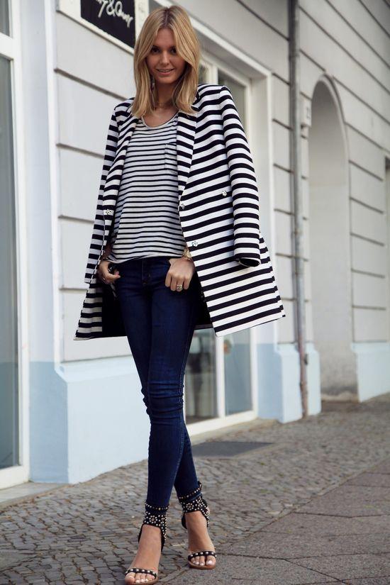 stripe-on-stripe so trendy at KG Street Style