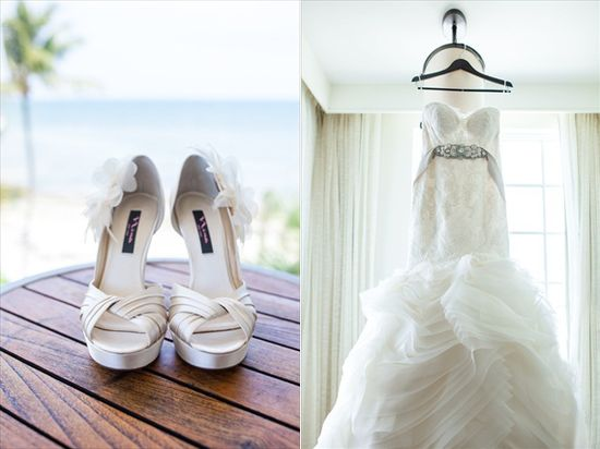 the bride's heels / dress - Filda Konec Photography - Casa Marina Wedding