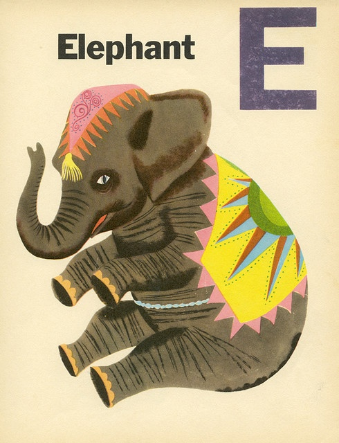 Vintage Elephant. I love things like this for a baby room!