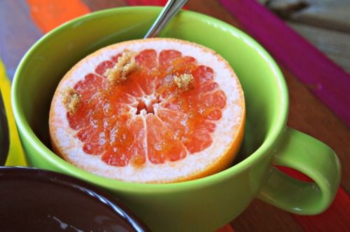 grapefruit + brown sugar
