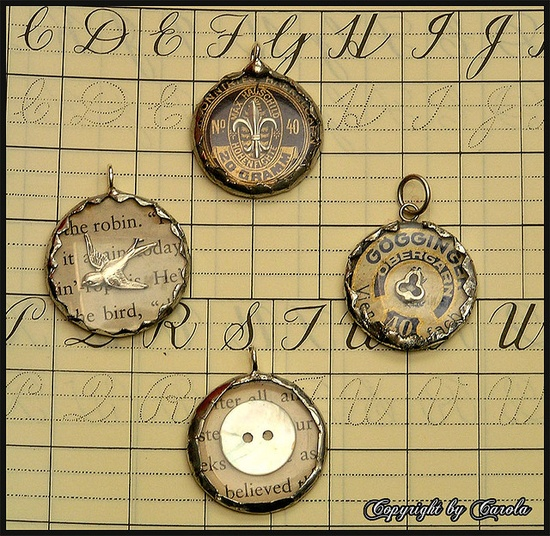 Soldered watch crystal charms..tutorial