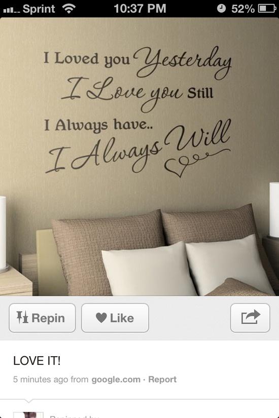 Great :) Bedroom decor :)  ü