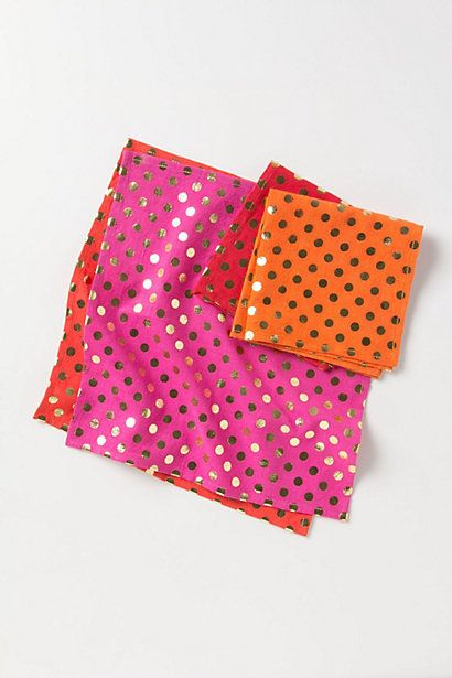 Foiled Dot Napkin / Anthropologie.com #holidaydecor #gifts #entertaining