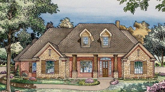 great outside and home plan