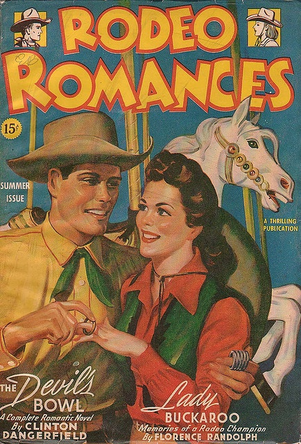 Who doesn't love a good rodeo romance? :) #vintage #cowgirl #Western #1940s