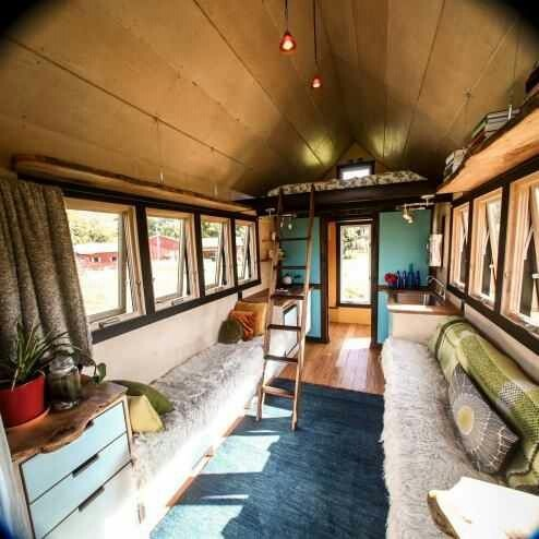 Pocket shelter tiny home interior.