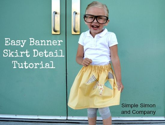 Simple Simon & Company: Easy Skirt Banner Tutorial and Riley Blake Giveaway!