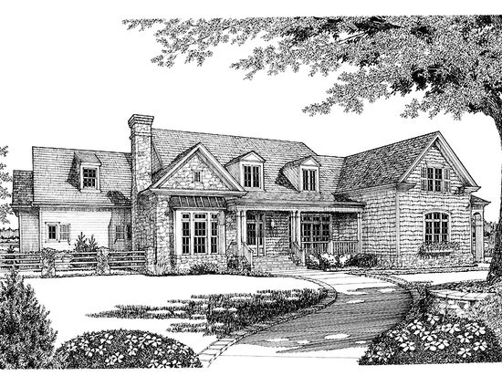 New American House Plan with 4537 Square Feet and 4 Bedrooms(s) from Dream Home Source