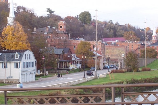 Galena, Illinois in the fall. Amazing.