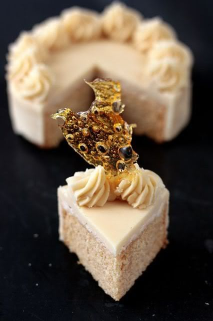 Caramel cake with caramelized butter frosting