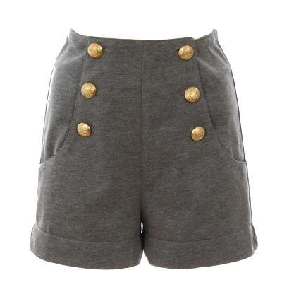 Gold button sailor shorts