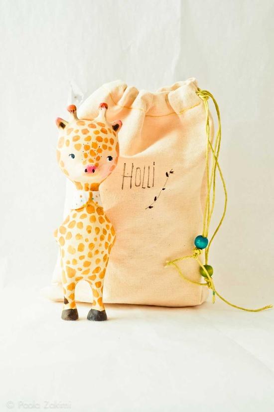 Giraffe Figurine Doll animal, ABC animals by Paola Zakimi.