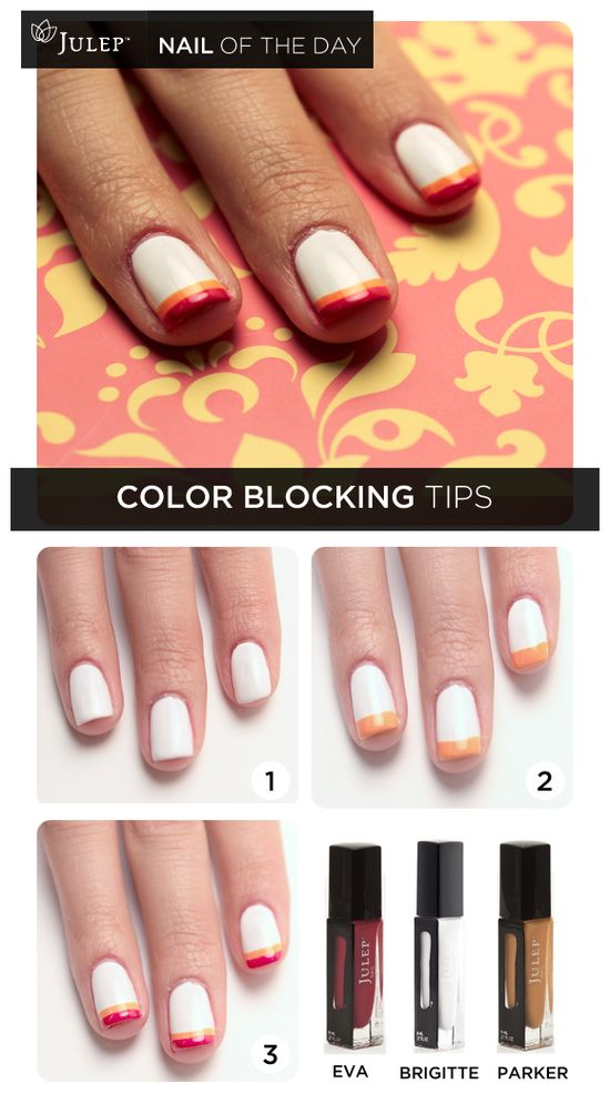Nail of the Day: Color Blocking Tips #nails
