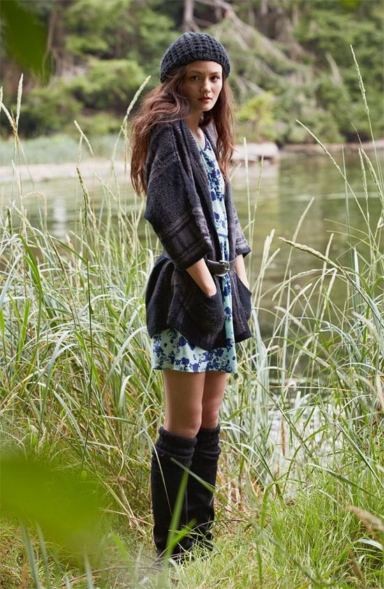 Rubbish® Cardigan & Mimi Chica Dress #Nordstrom #BPNordstrom #FallTrend
