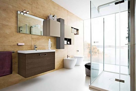 Modern Bathroom Design Gallery With Hanging Wardrobe