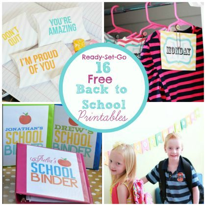 Get Organized for School ready-set-so: 16 Free Back to School Printables