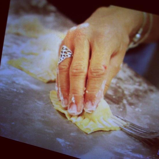 Handmade ravioli with Terra Firma Farm, Liss Flint photo.