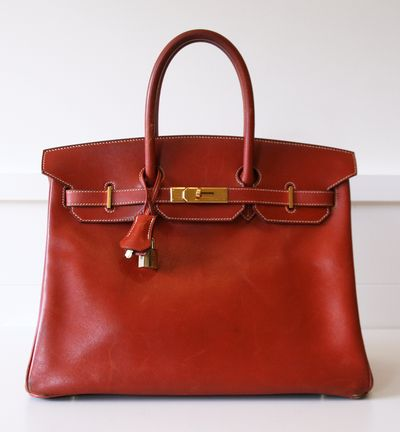 Hermes Fjord leather Birkin