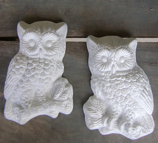 Shabby chic owls to decorate your walls for Halloween. #MarthaStewartLiving