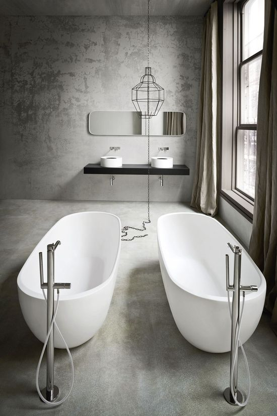 Freestanding oval Korakril™ #bathtub HOLE by Rexa Design