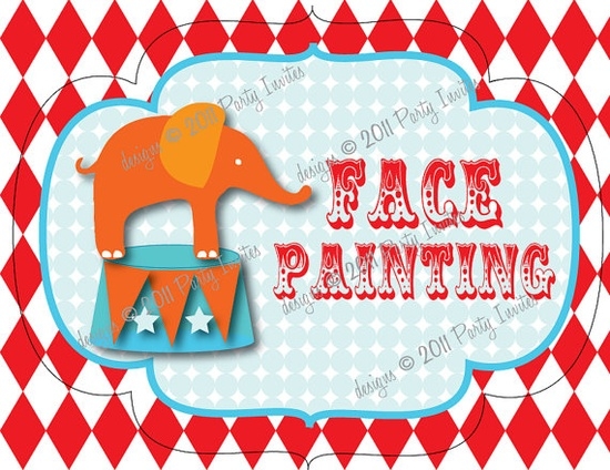 carnival or circus - face painting sign - etsy sign