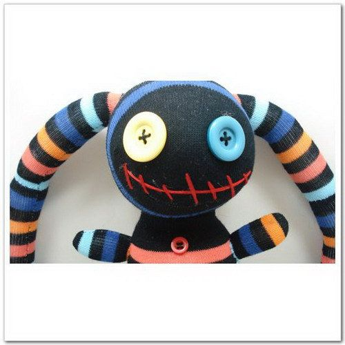 Handmade Sock Pirate Stuffed Animal Doll Baby Toys. $11.99, via Etsy.