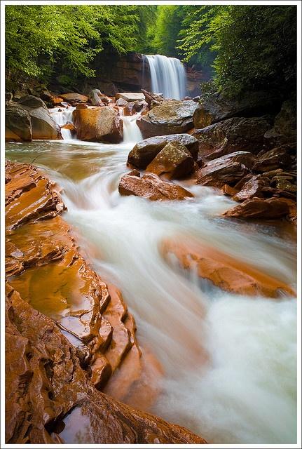 Douglas Falls (West Virginia) by Christine