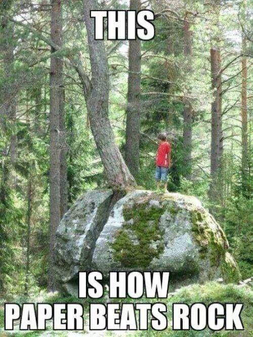 how paper beats rock !
