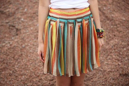 the technicolored skirt