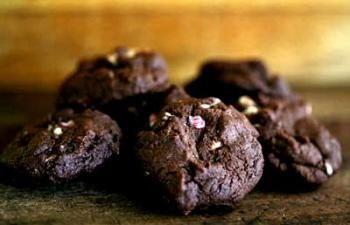 Peppermint Dark Chocolate Cookies