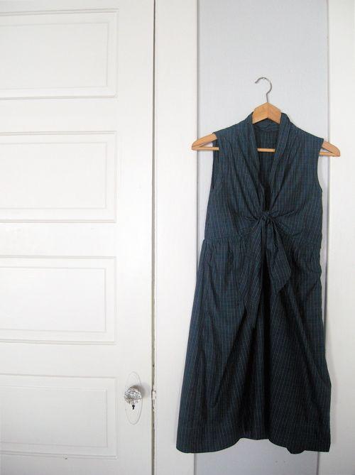 tie front dress tutorial Love