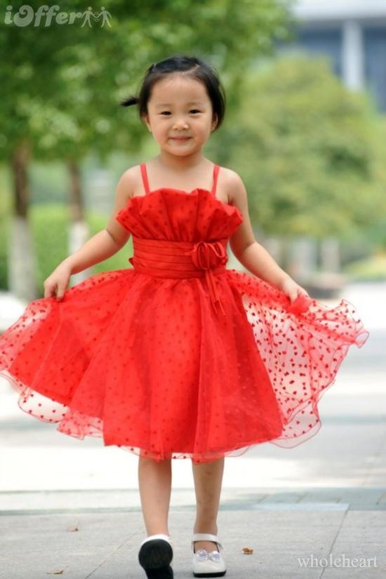 wedding, flowergirl, red, dress