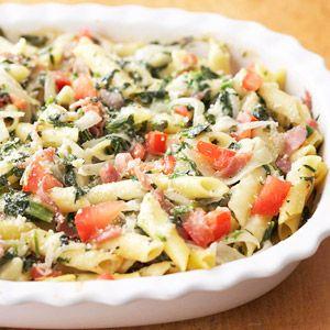 Prosciutto Spinach Pasta