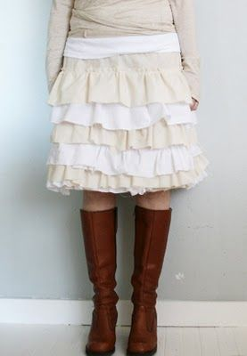 Cute ruffled skirt tutorial.