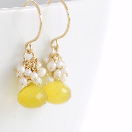 Lemon Meringue Earrings