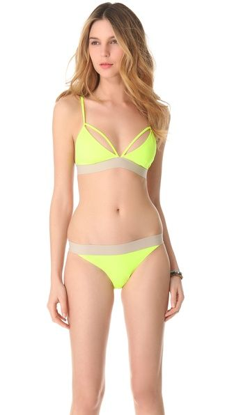 neon strappy bikini {would look great with a tan!}