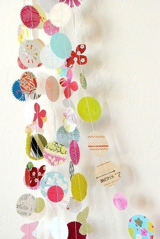 #DIY lovely paper garlands