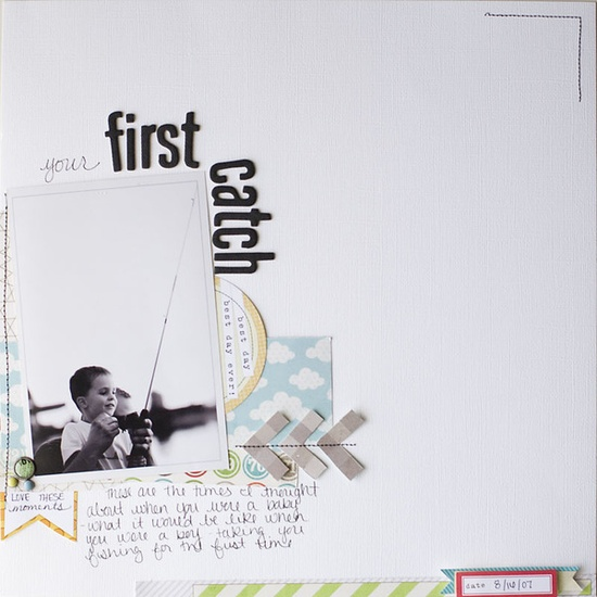 Scrapbooking page details