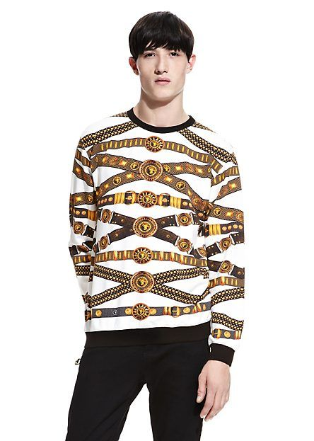 ICONIC BELT PRINT SWEATSHIRT