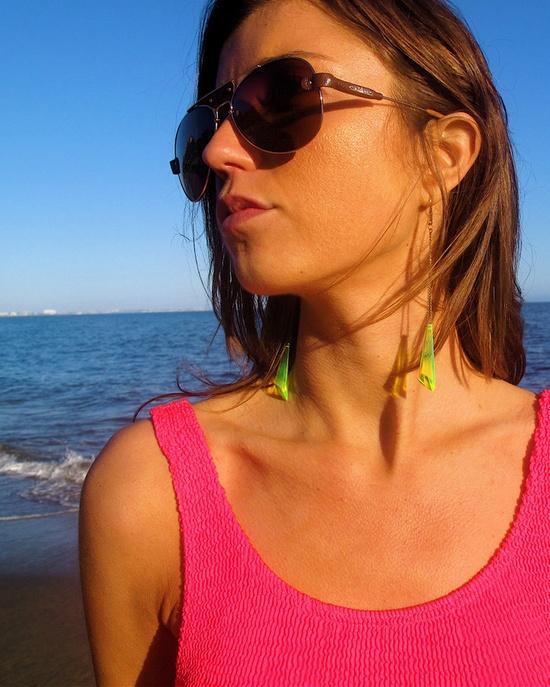 Neon Geo Earrings